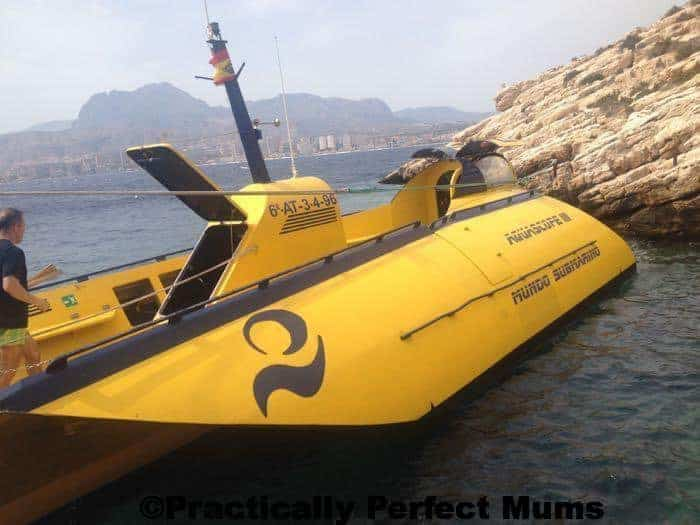 Yellow Submarine Ride on Benidorm Island