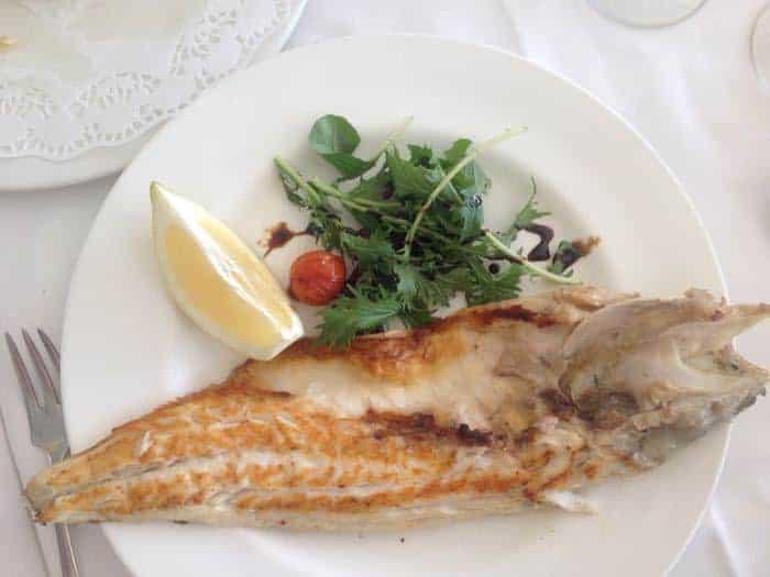Delicious fish dish at Restaurant Ulía Benidorm