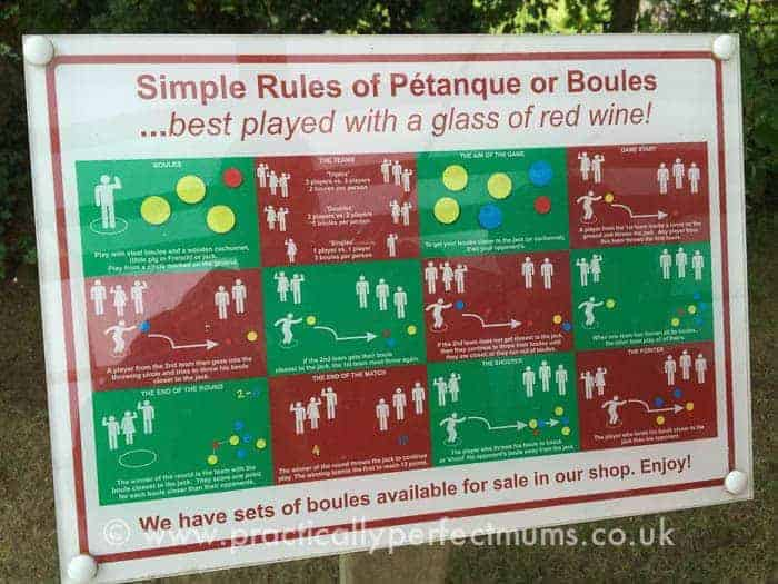 Woodovis Park Petanque Rules