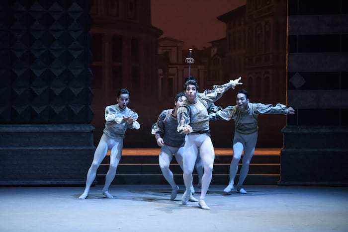 Romeo and Juliet Ballet Review, ROMEO and JULIET, English National Ballet_ Bristol Hippodrome; Juliet; Alina Cojocaru, Romeo; Isaac Hernández, Mercutio; Cesar Corrales, Benvolio; James Forbat, Tybalt; James Streeter, Rosaline; Alison McWhinney, Paris; Max Westwell,