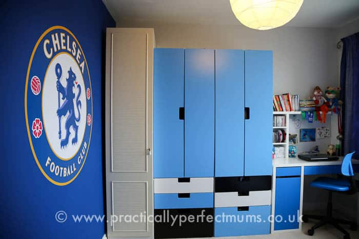 Chelsea Football Bedroom Makeover with Hillary's Blinds
