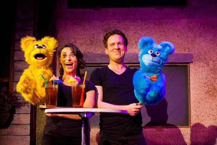 Avenue Q review with Jessica Parker and Stephen Arden as The Bad Idea Bears. Avenue Q UK Tour, Bristol Hippodrome Photo Credit Matt Martin Photography