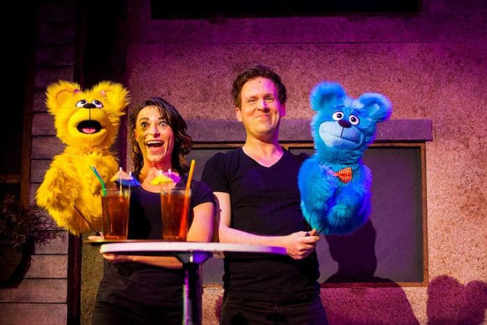 Avenue Q review with Jessica Parker and Stephen Arden as The Bad Idea Bears. Avenue Q UK Tour, Bristol Hippodrome Photo Credit Matt Martin Photography
