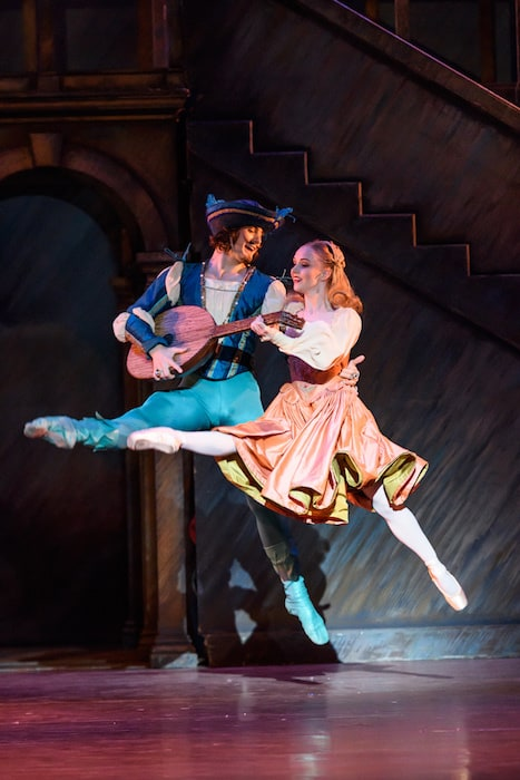 The Taming of the Shrew Ballet review Birmingham Royal Ballet Hortensio; Mathias Dingman, Lucentio; Cesar Morales, Gremio; Valentin Olovyannikov, Bianca; Karla Doorbar, Katherina; Nao Sakuma, Baptista; Jonathan Payn, Petruchio; Tyrone Singleton, Whores; Ana Albutashvili, Celine Gittens, Innkeeper; James Barton, Priest ; James Barton,