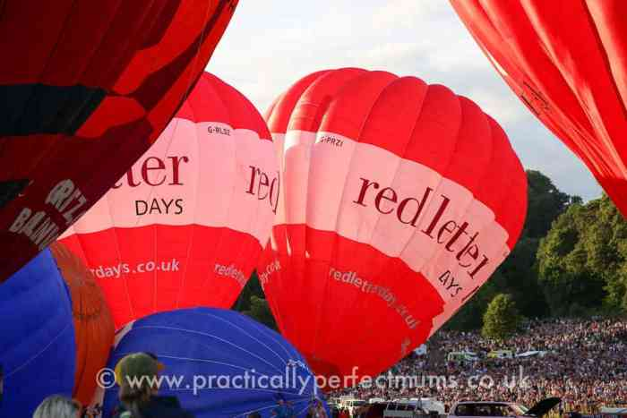 red letter day hot air balloons taking off at Bristol Balloon Fiesta 2016