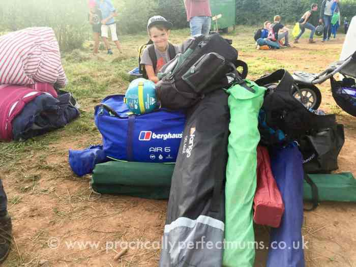 Queuing for a tractor - Valley Fest Review