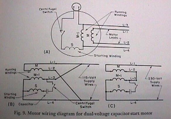 Dayton Motor Wiring Diagram 110 220