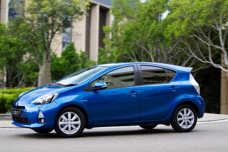 Toyota Prius c is affordable and a good looker.