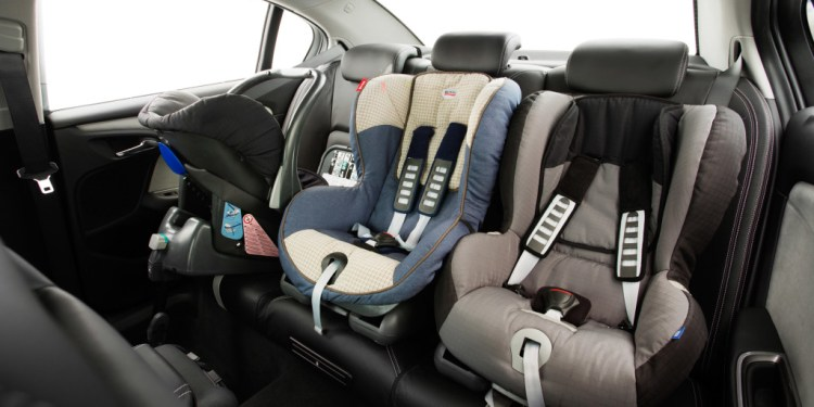 Holden has fitted three ISOfix latching points to the back seat of the VF Commodore