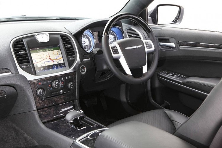 The Chrysler 300C's interior is busy but well built