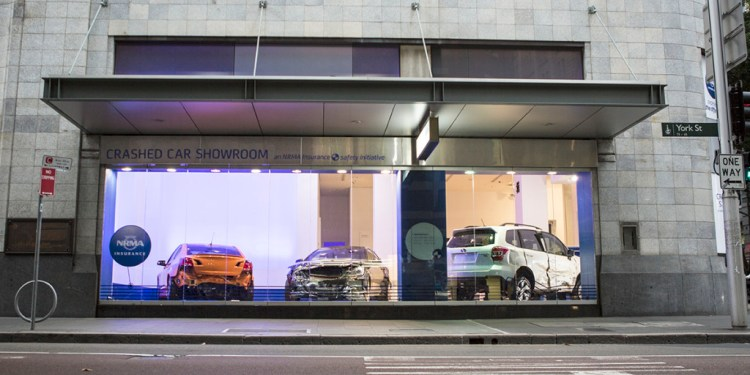 NRMA Insurance has launched the Crashed Car Showroom