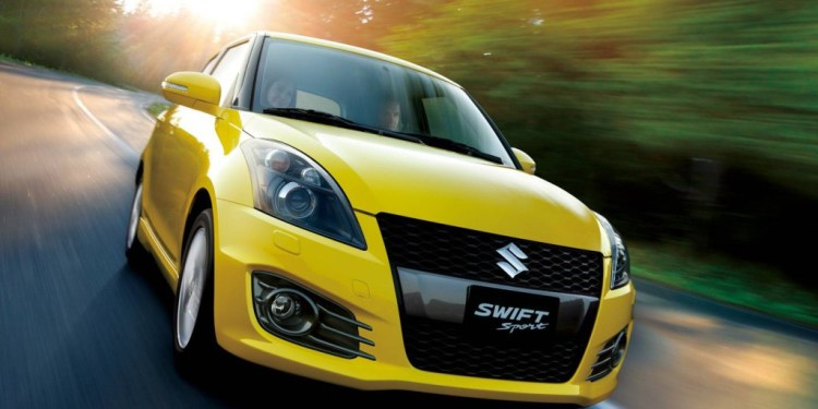 The Suzuki Swift Sport isn't quite as aggressive as the Fiesta ST