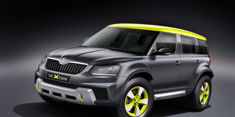 The Skoda Yeti Extreme is a one-off concept for the GTI event at Worthersee