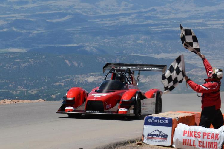 Mitsubishi finishes 2nd at Pikes Peak International Hill Climb