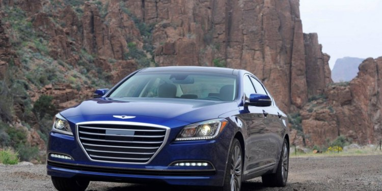 Hyundai demonstrates safety technology on the new Genesis sedan in a YouTube video