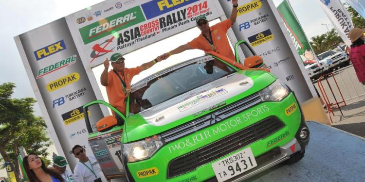 Mitsubishi Outlander PHEV at Asia Cross Country Rally