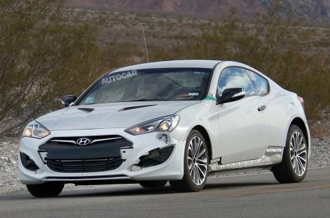 Hyundai Genesis Coupe spy shot - Autocar