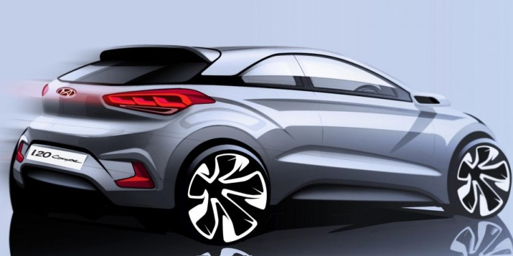 Hyundai reveals i20 coupe sketch