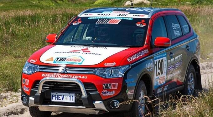 Outlander PHEV competes in Australasian Safari