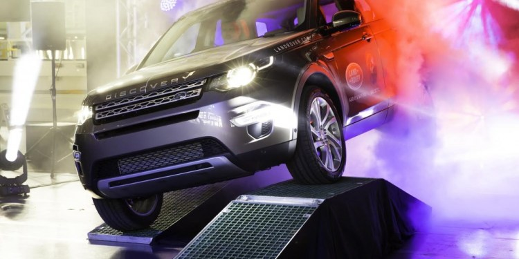 First land rover discovery sport rolls off production line in Halewood.