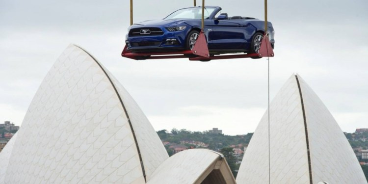 2015 Ford Mustang celebrates NYE in Sydney