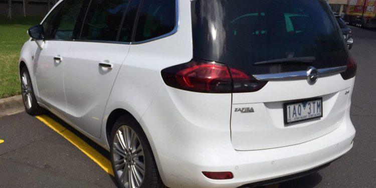 Opel Zafira spied in Melbourne