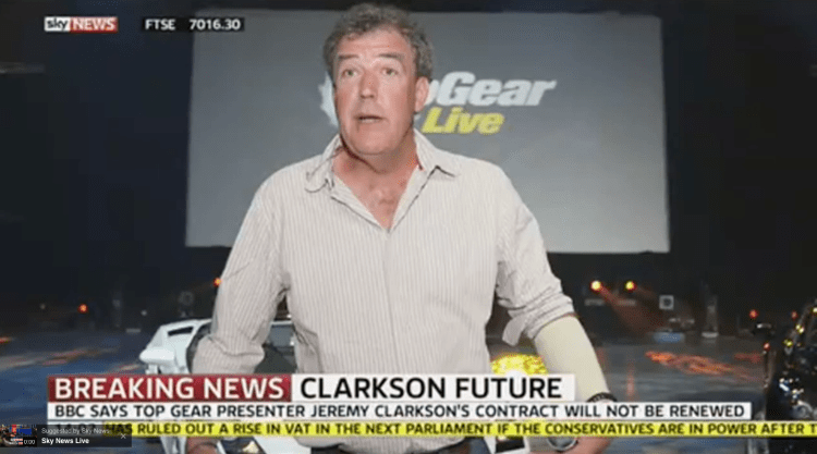 Jeremy Clarkson has been sacked from Top Gear