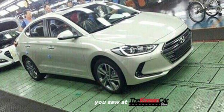 2016 Hyundai Elantra spied