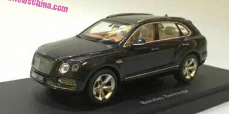 Bentley Bentayga leaks in scale model