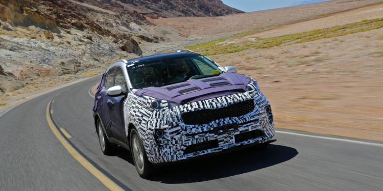 2016 Kia Sportage hot weather testing programme revealed