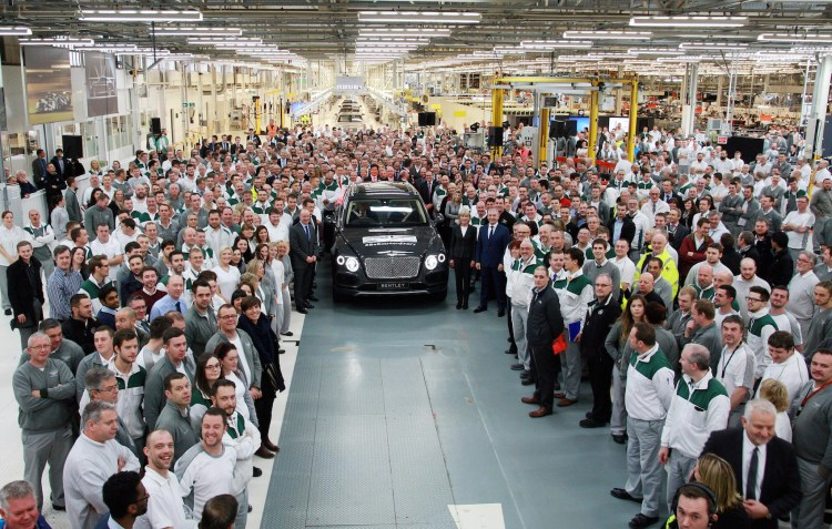 First Bentley Bentayga rolls off the production line