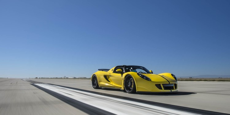 Hennessey Venom GT Spyder is the world's fastest convertible