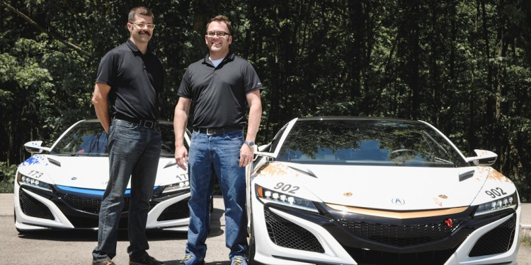 Nick and James Robinson, drivers of the Time Attack NSX 1 and 2 vehicles, are brothers and Honda Research and Development engineers