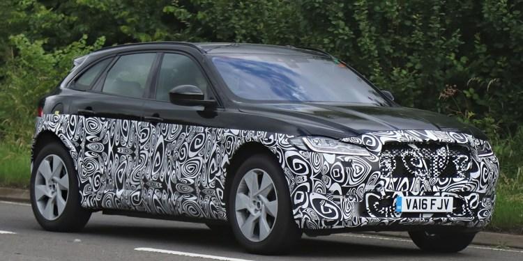 Baby Jaguar SUV spied