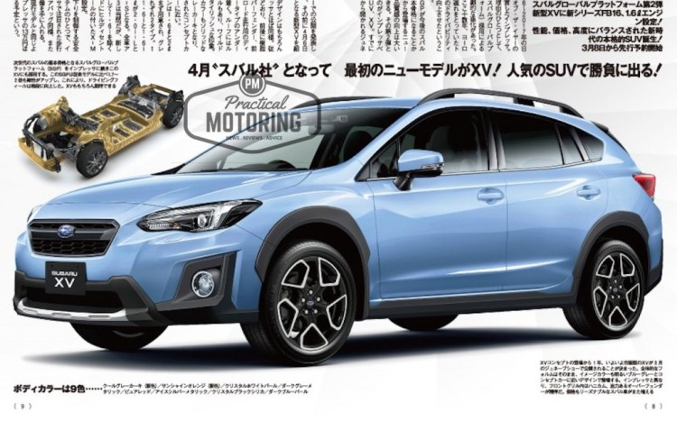The all-new 2018 Subaru XV will be revealed at the Geneva Motor Show next month... but an internal marketing brochure seems to have been leaked early.