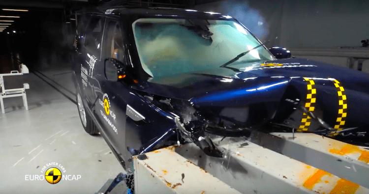 Euro NCAP Land Rover Dsicovery crash test