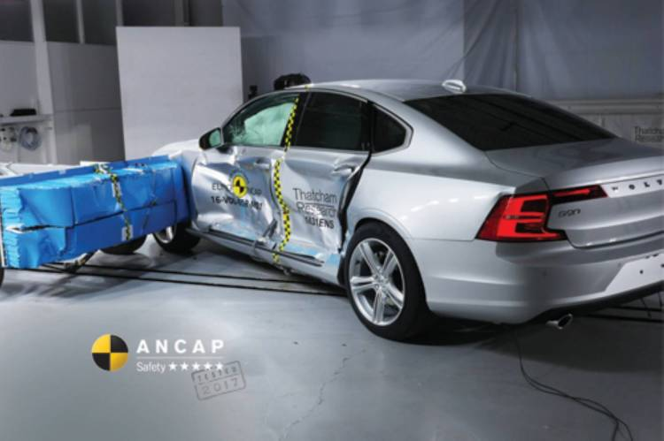ANCAP testing the Volvo S90