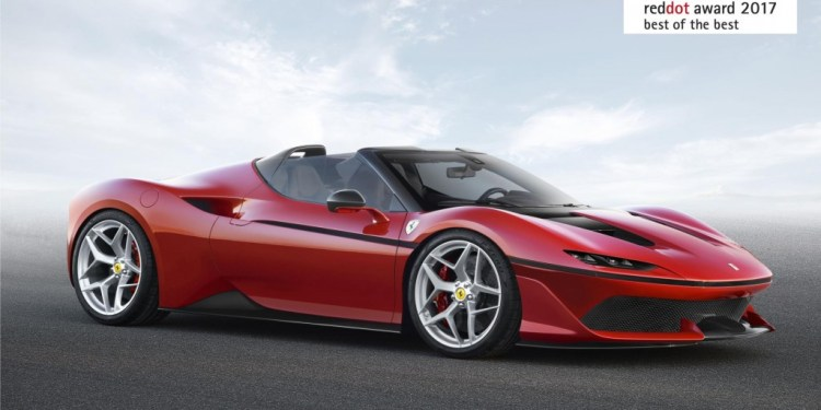 "For the third year running, Ferrari has won the Red Dot: Best of the Best award for the ""maximum expression of design quality and ground-breaking design""."