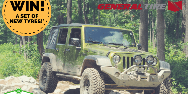 Enter our General Tire giveaway for your chance to win a set of General Tire Grabber AT3 or X3 tyres for your 4x4 or SUV.