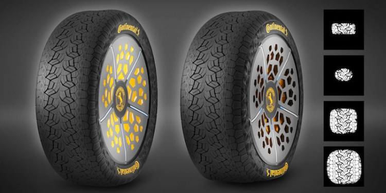 Continental reveals smart tyre technology
