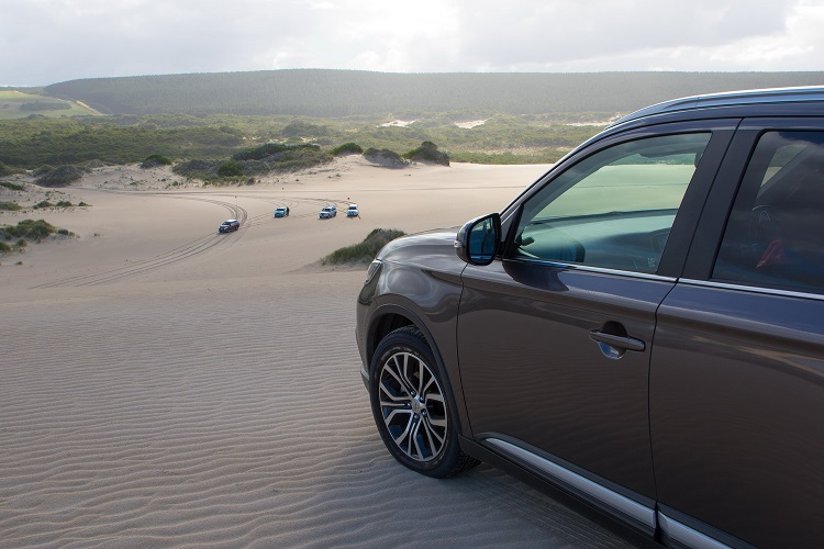 Mitsubishi Pajero enjoying the view from the top of the hill. Photo by Robert Pepper / Practical Motoring.