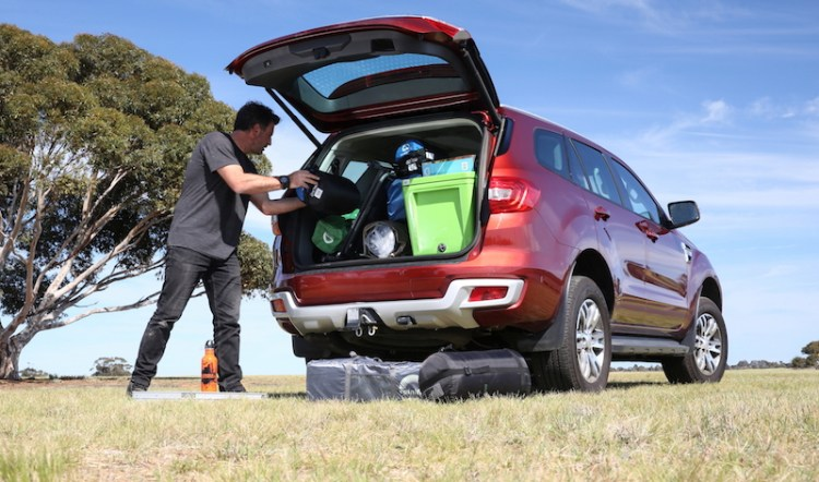 The Ford Everest offers plenty of room for packing everything you'll need on a 4x4 road trip