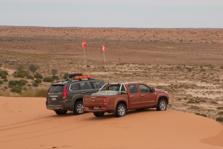 Crossing the Simpson Desert