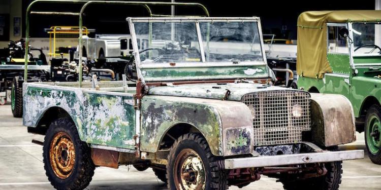 Pre-production land Rover begins restoration
