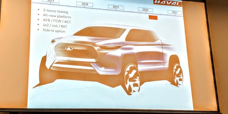 Haval has made no secret of its intention to play in the fast-growing premium trade ute segment, but now it's released an image of what we might expect.