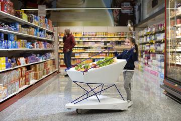 Ford reveals self-braking shopping trolley