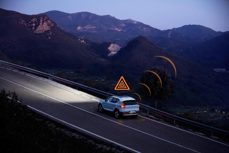 Volvo has announced the launch of technology across Europe that allows Volvo vehicles to communicate safety data with other Volvo cars.