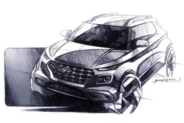 Hyundai Venue teased in design sketches