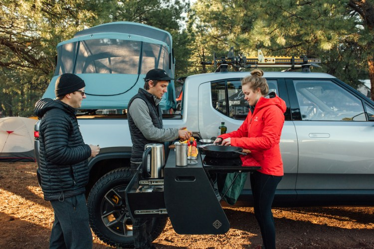 Custom pull-out electric kitchen revealed for Rivian R1T