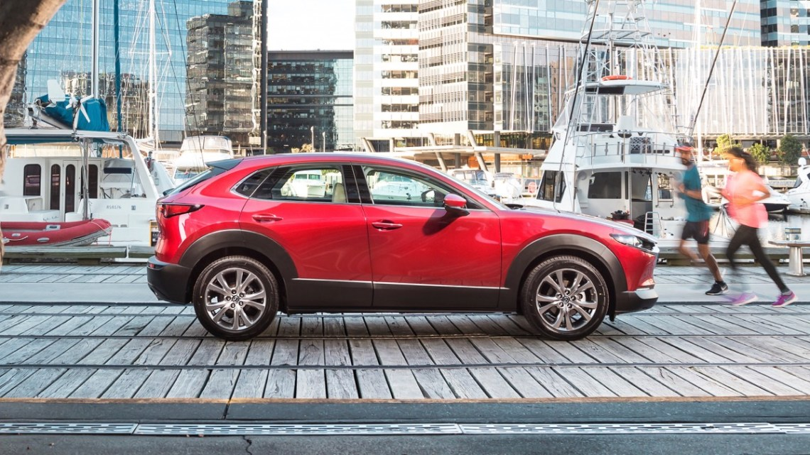 Mazda CX-30 side view pricing